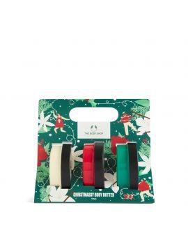 Zestaw świąteczny z masłami do ciała Świąteczna Malina, Zimowy Jaśmin i Ciepła Wanilia