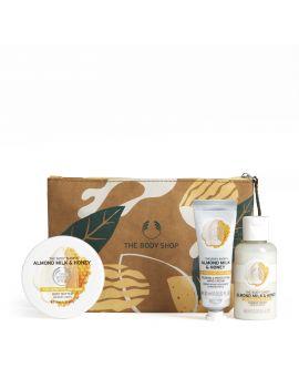 Zestaw prezentowy Mleko migdałowe i miód w kosmetyczce